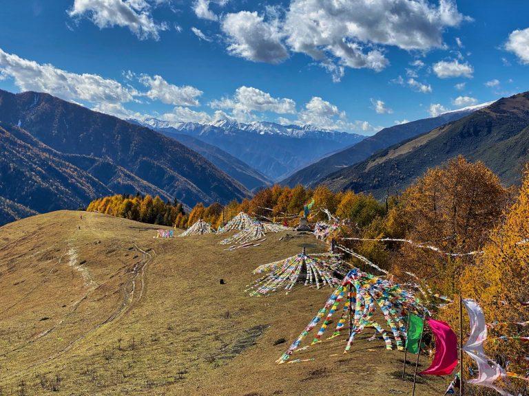 Tibetan festival location for Mount Siguniang