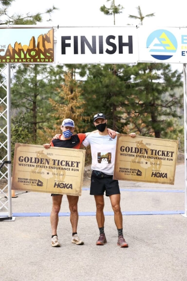 Anthony Costales and Max King - 2021 Canyons 100k v2