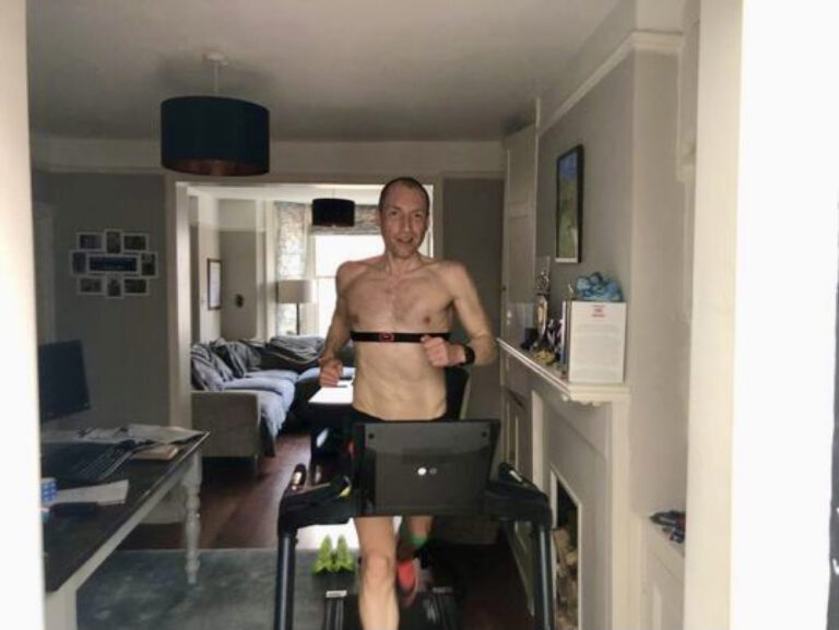 Aleksandr Sorokin - 100 mile world record - Centurion Running Track 100 Mile - training on a treadmill