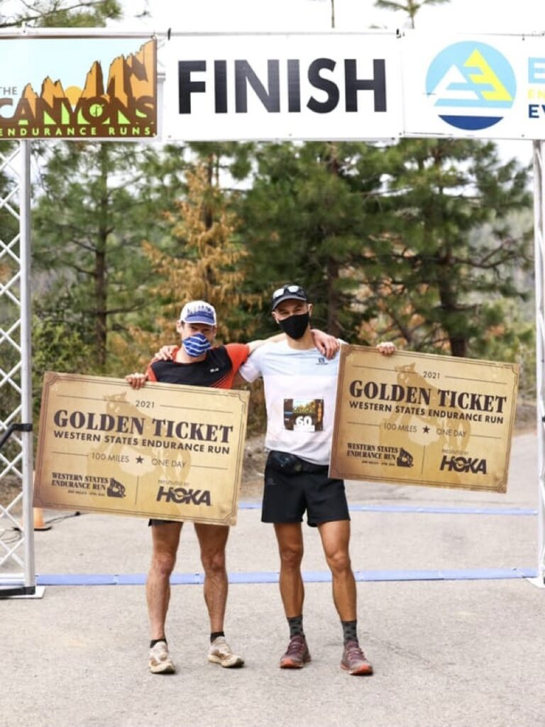 Max King and Anthony Costales - 2021 Canyons 100k