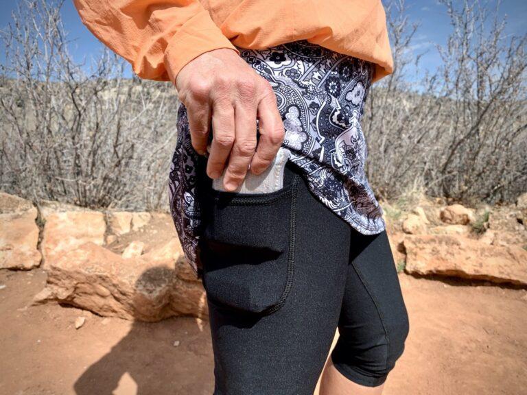 Blyss Running Skirting Around Crop outside thigh pocket