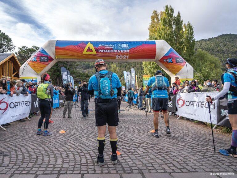 socially distant start line - COVID-19 racing safety - Patagonia Run