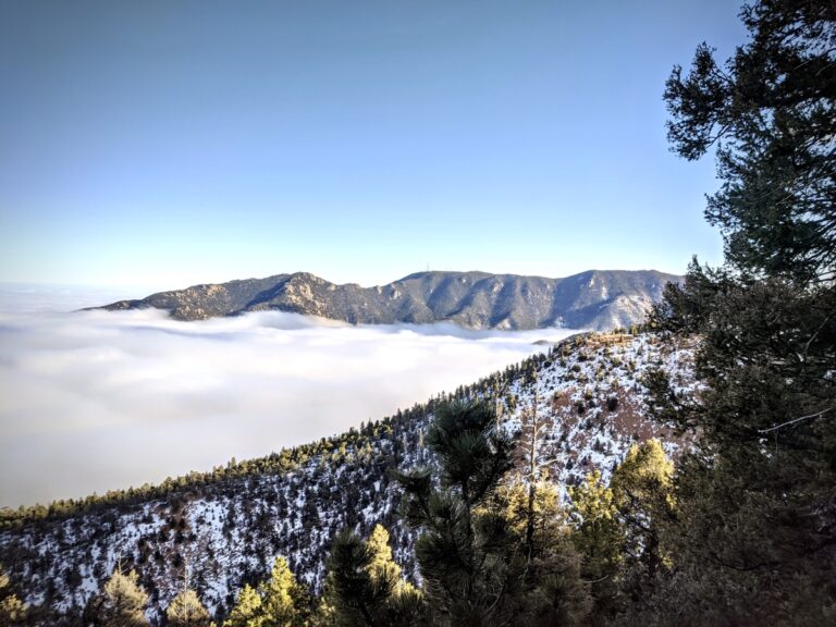 Mountains and cloud inversion