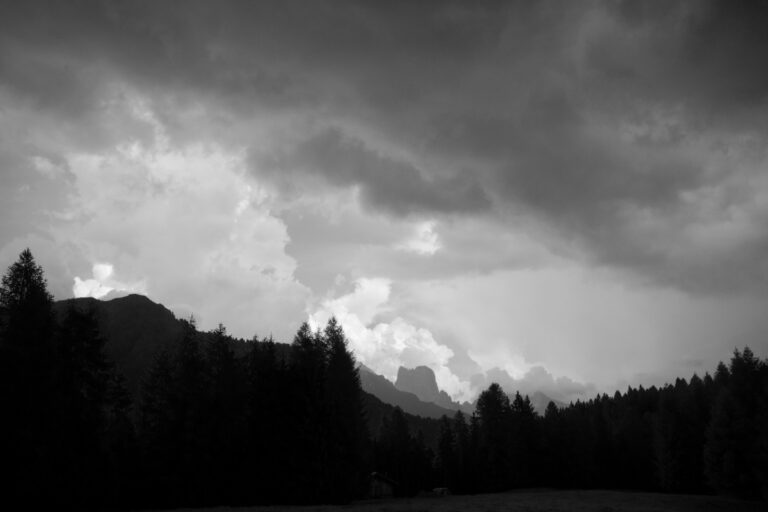 Bad weather in the mountains