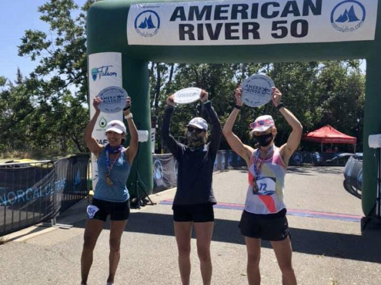 2021 American River 50 Mile women's podium