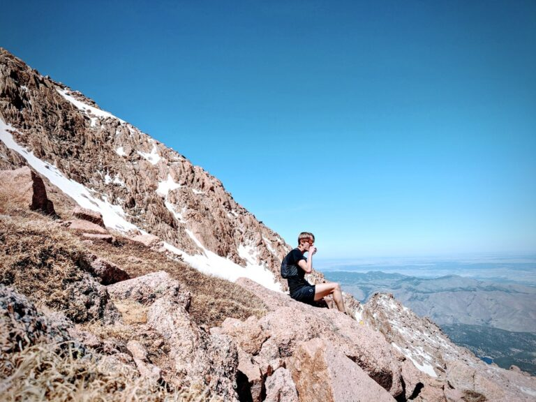 Alex Nichols - snacking on Pikes Peak