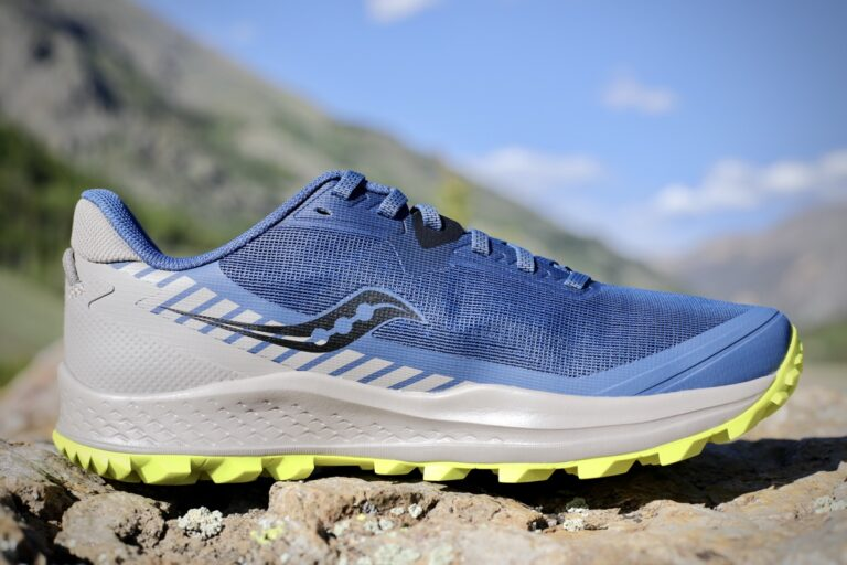 The medial view of the Saucony Peregrine 11