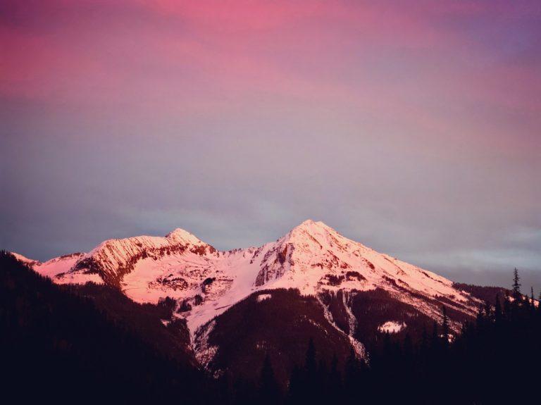 San Juan Mountain Sunset - haiku trail running