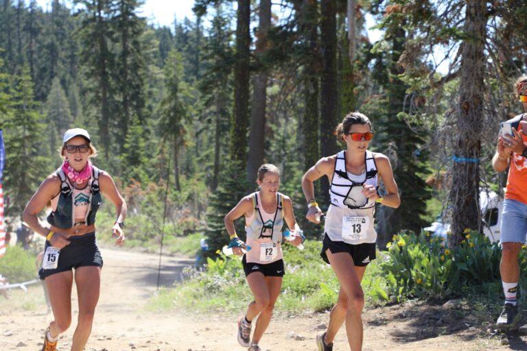 Keely Henninger - Ruth Croft - Brittany Peterson running through Robinson Flat