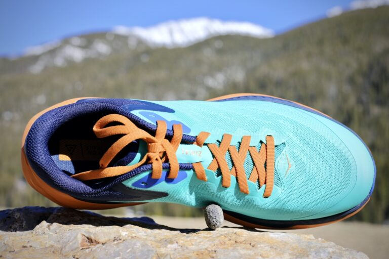 A top view of the Hoka One One Zinal.