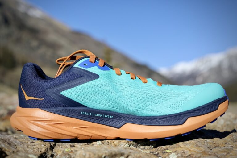 A medial view of the Hoka One One Zinal.