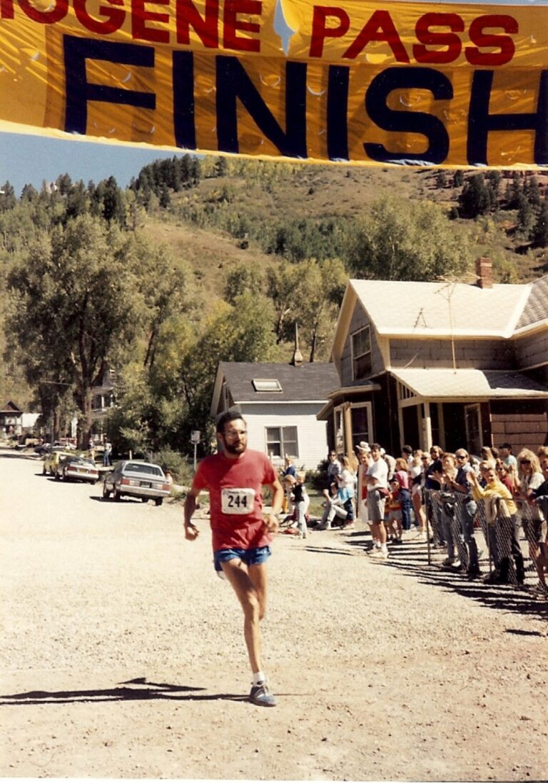 IRF 12-- Running_ IPR 1989-- Rick nearing IPR finish line in Telluride_ 9Sep1989