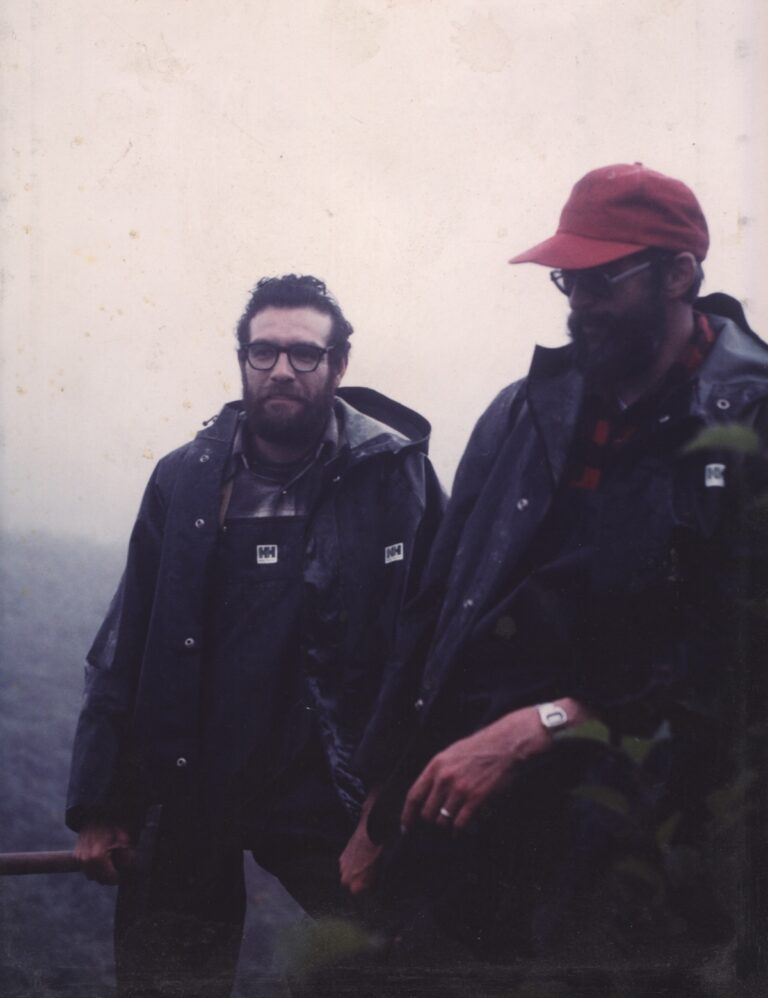 IRF 11-- Work_ Rick Trujillo and Gary Anderson_ August 1981, Unga Island, Alaska