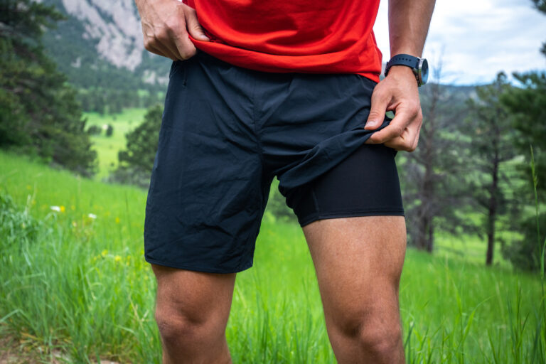 """Hoka One One Performance Woven 7"""" Short Front"""