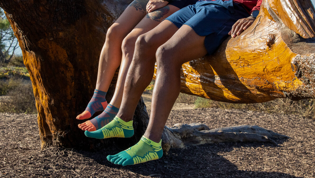 Runners wearing Injiji socks