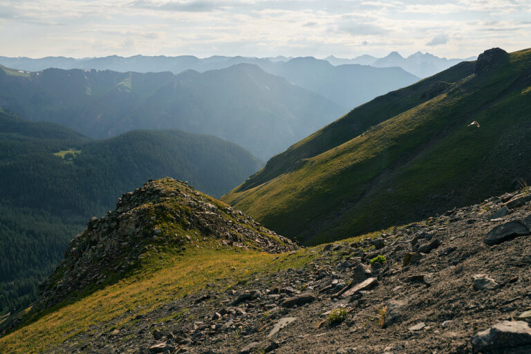 A view from the top of Engineer Pass, near mile 48.7 of Hardrock 100