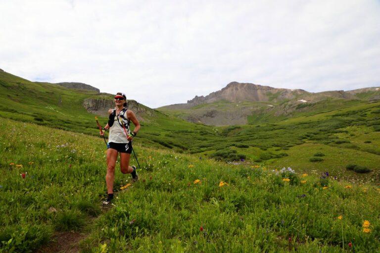Sabrina Stanley at Maggie Gulch mile 15.4