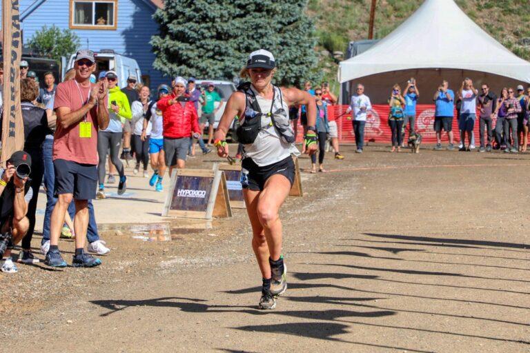2021 Hardrock 100 - Sabrina Stanley - sprint finish