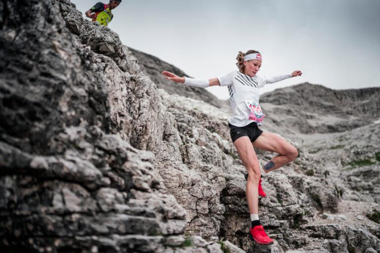 Wyman running downhill at @GoldenTrailSeries | @dolomythsrun | @jsaragossa Jordi Saragossa