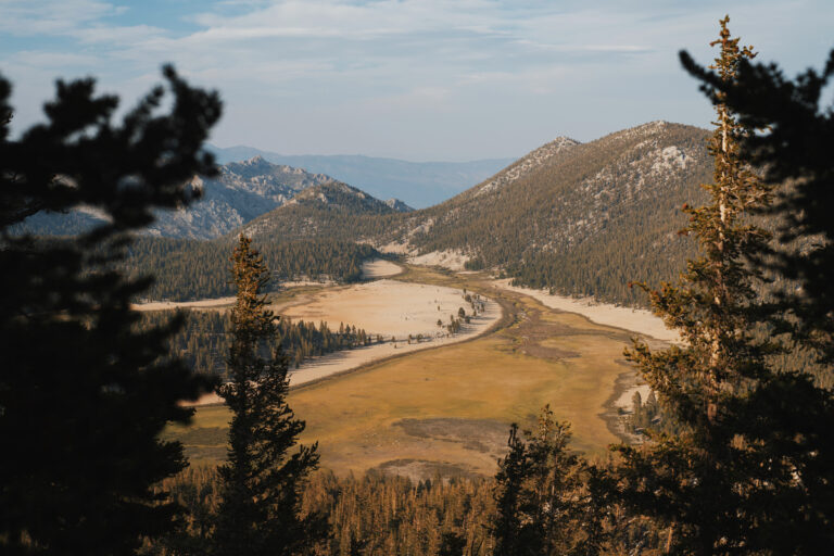 A view of a valley below the Pacific Crest Trail. Photo: Keith Ladzinski / adidas Terrex