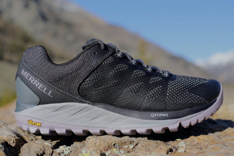 A lateral view of the Merrell Antora 2