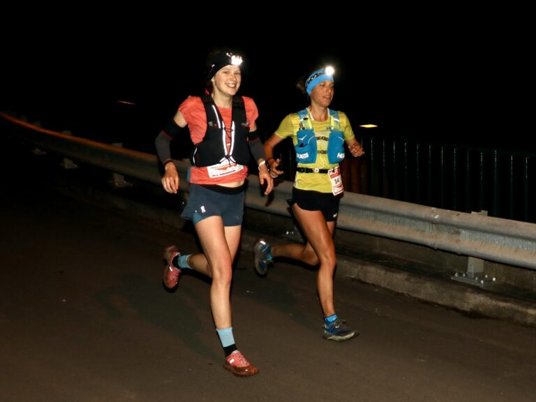 2019 Madeira Island Ultra Trail - Katie Schide and Audrey Tanguy night running