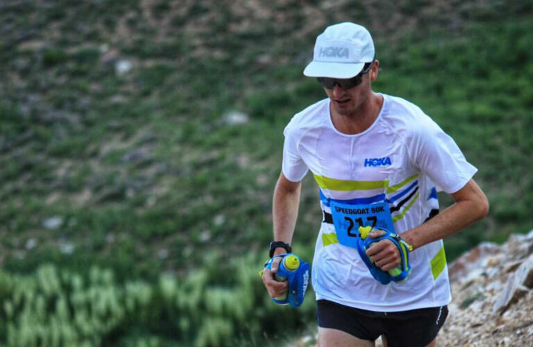 Adam Peterman at the 2021 Speedgoat 50k
