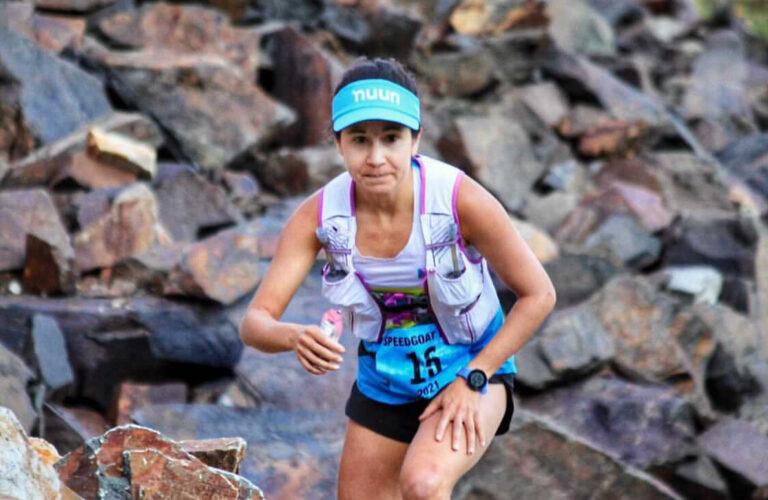 Ashley Brasovan at the Speedgoat 50k. Photo: Courtesy Ashley Brasovan