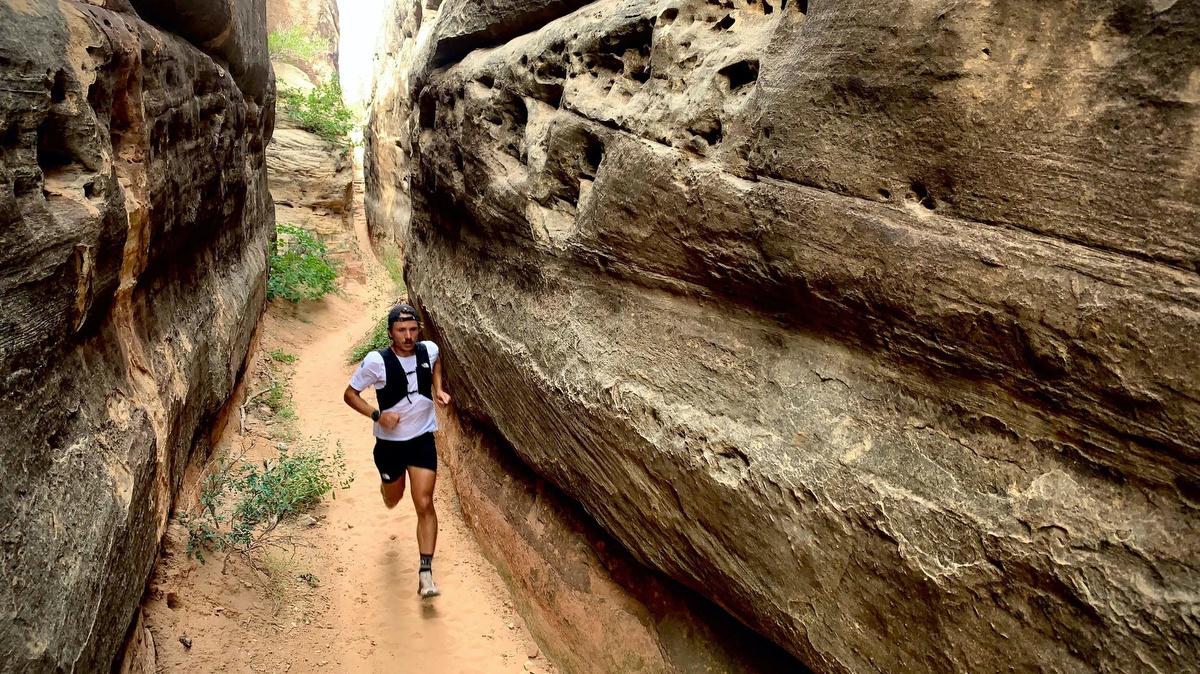 Zach Miller - running in a canyon