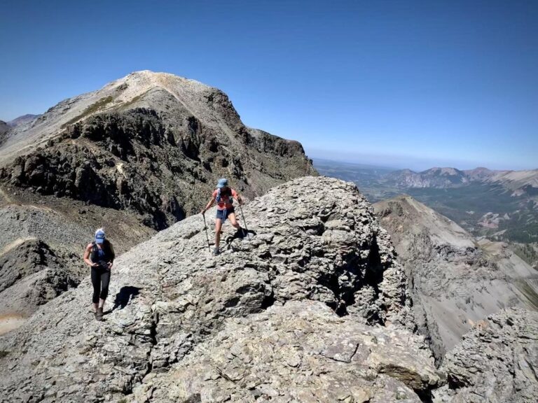 Whiley Hall and Sarah Lavender Smith hiking near Telluride in 2021