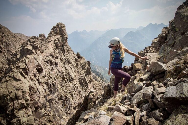 Whiley Hall scrambling West Needle Mountain in 2020