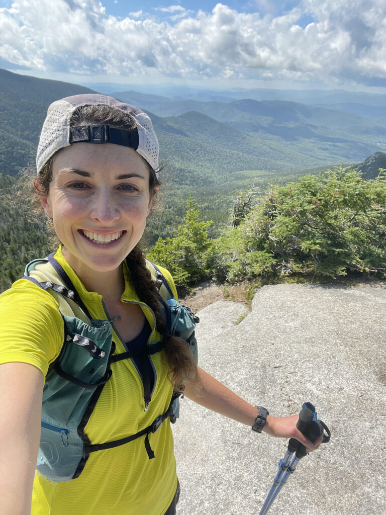 Abby Levene - Rab Sonic Zip Tee - Mountains