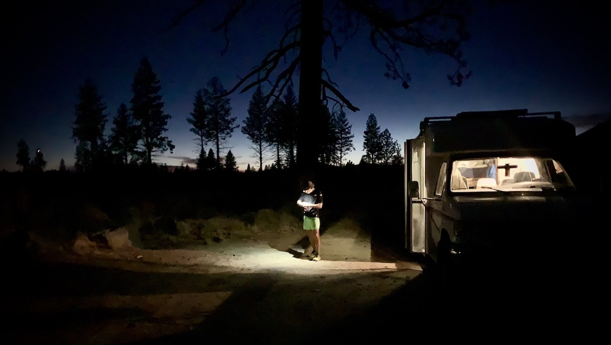 Zach Miller - bus - night running