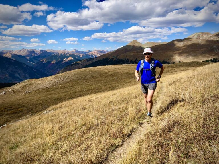 Bryon Powell - running long - Colorado fall in the high country