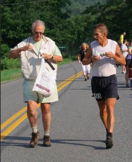 Robin Wilkins and AJW at the 2008 Vermont 100 Race