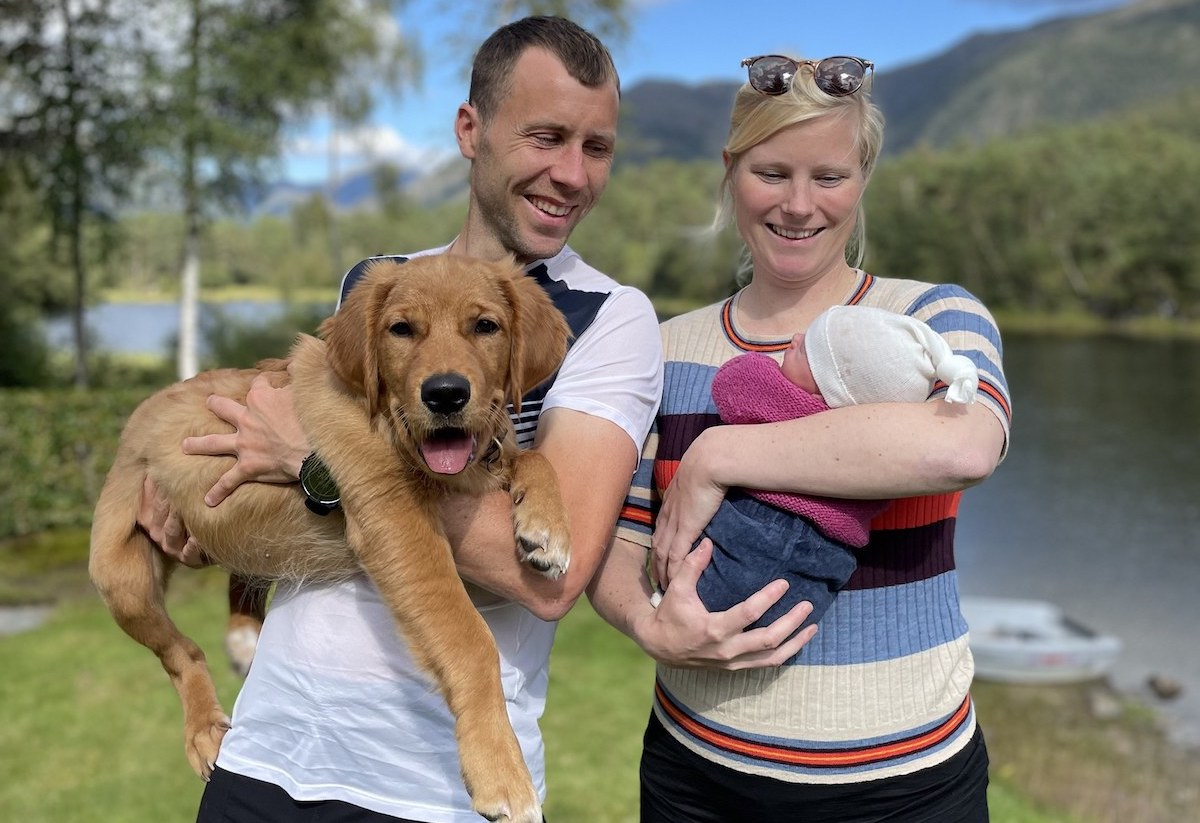 Top Runners - Stian Angermund with Family