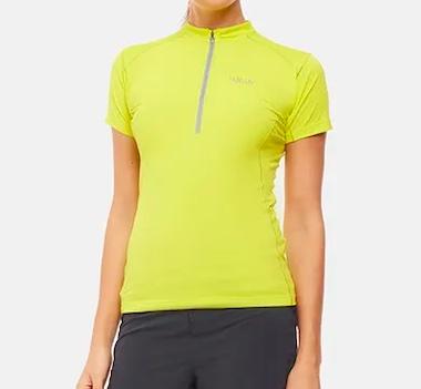 Best Women's Running Shorts - Rab Sonic Zip Tee - Product