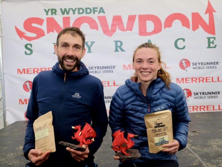 Finlay Wild and Georgia Tindley - 2021 Snowdon Skyrace champions