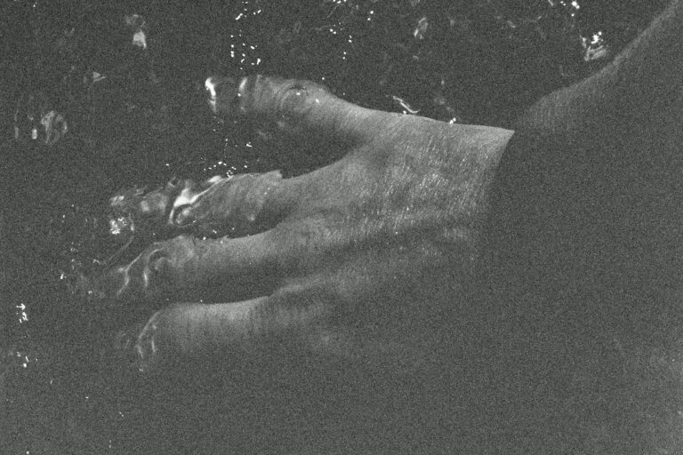 Hannah Green Notes from the trail - work in progress - hand in water on film