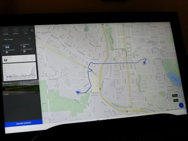 NordicTrack Commercial X32i Treadmill - iFIT using Google Maps to create a route