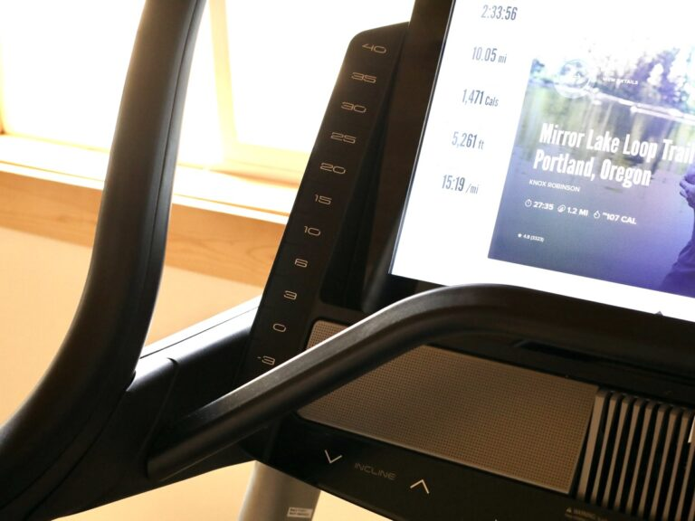 NordicTrack Commercial X32i Treadmill - console left front