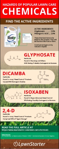 Hazards of Lawn Care Chemicals Infographic