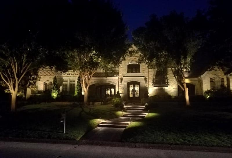 Lighting Landscaping at Night