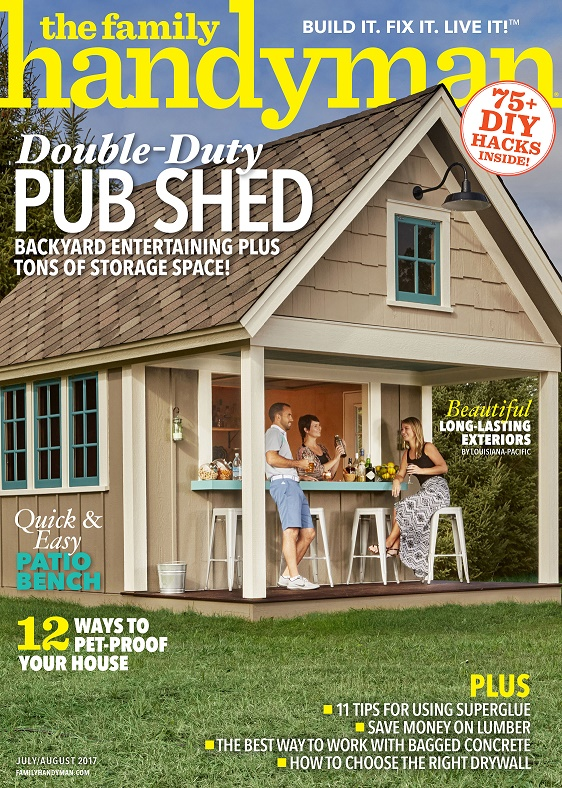 LP Shed Products Featured in July/August Issue of <em>The Family Handyman</em> Magazine