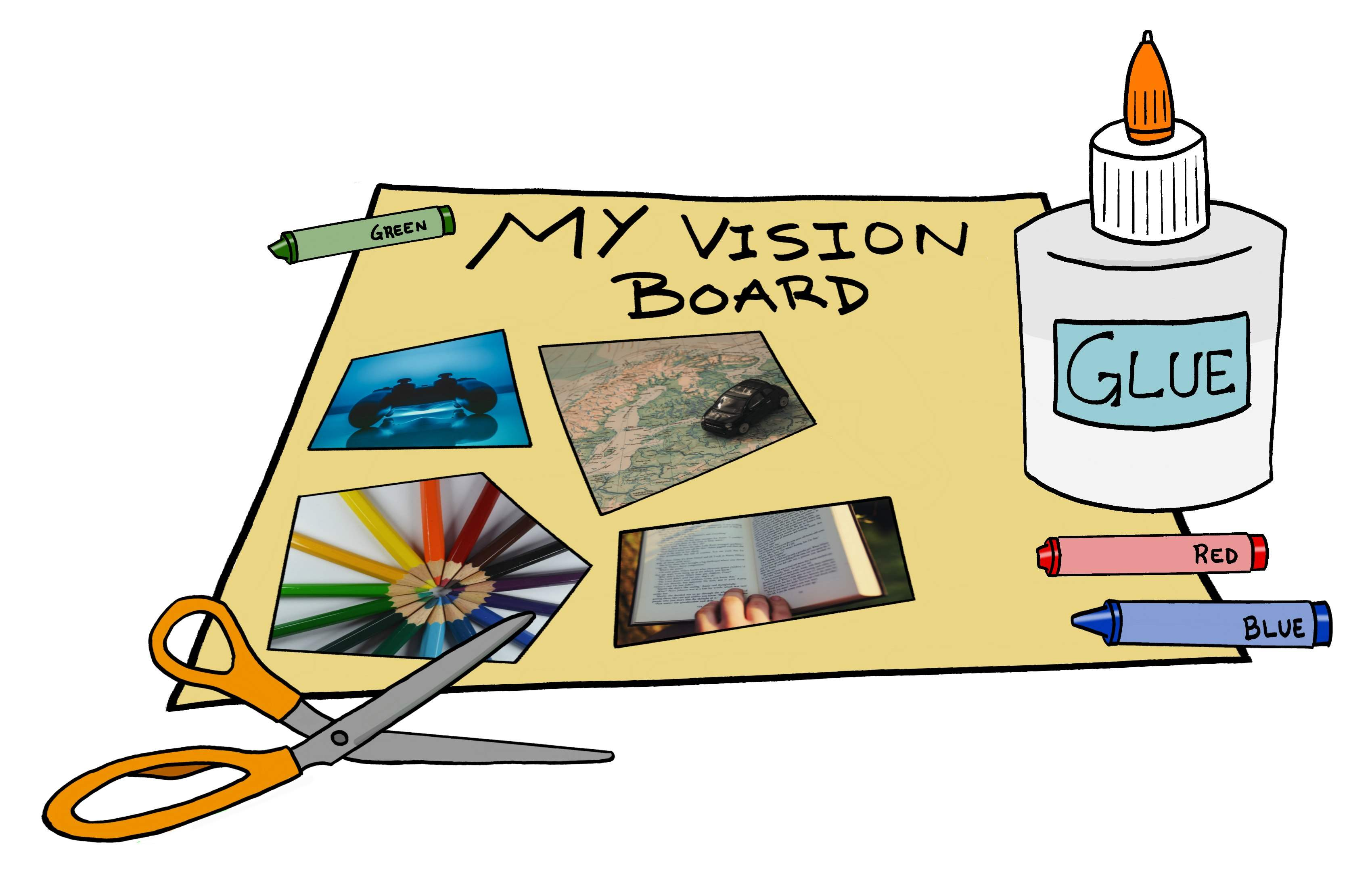 create a vision board and get your 2016 goals on paper pencil clip art for teachers pencil clip art pic