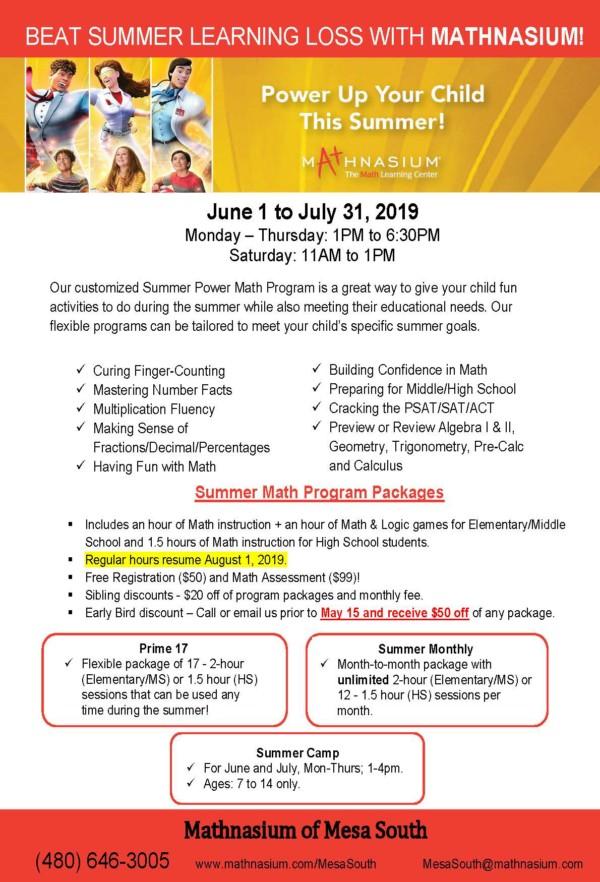 Summer Camp and Math Program Make a Great Pair!