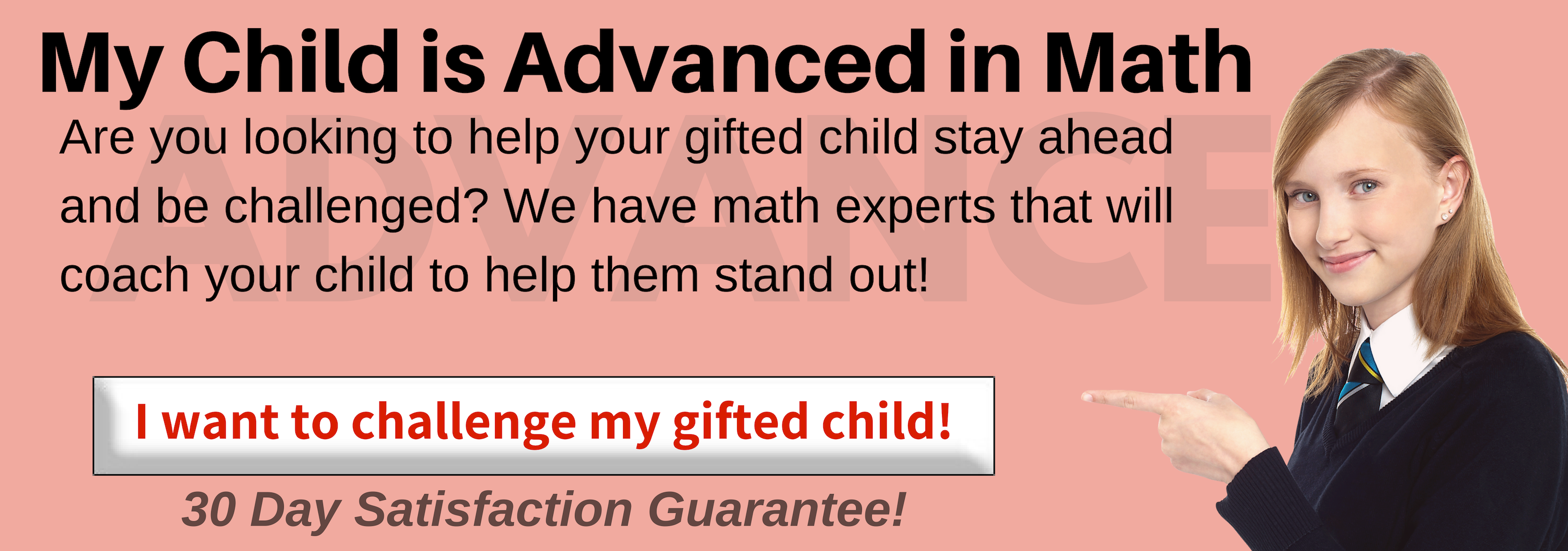 Is your child gifted and talented in math? Need an enrichment program to help your child stay ahead in math? We can push them to excellence in math