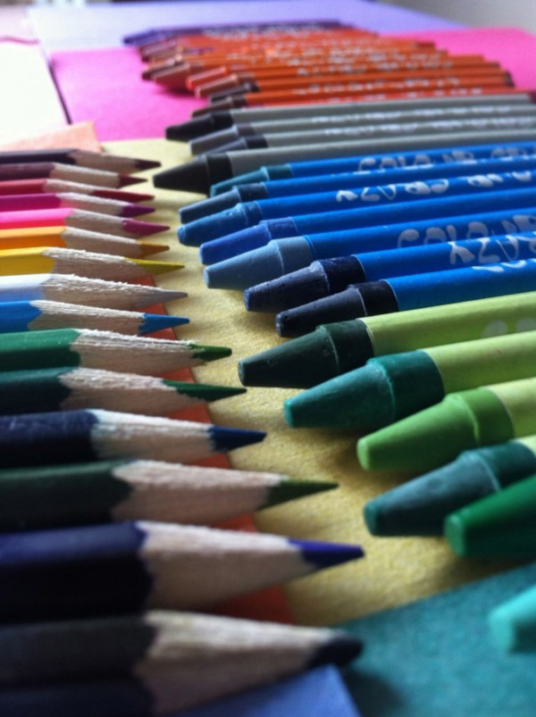 Image result for colored pencils and crayons