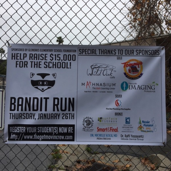 Bandit Run banner with Mathnasium logo