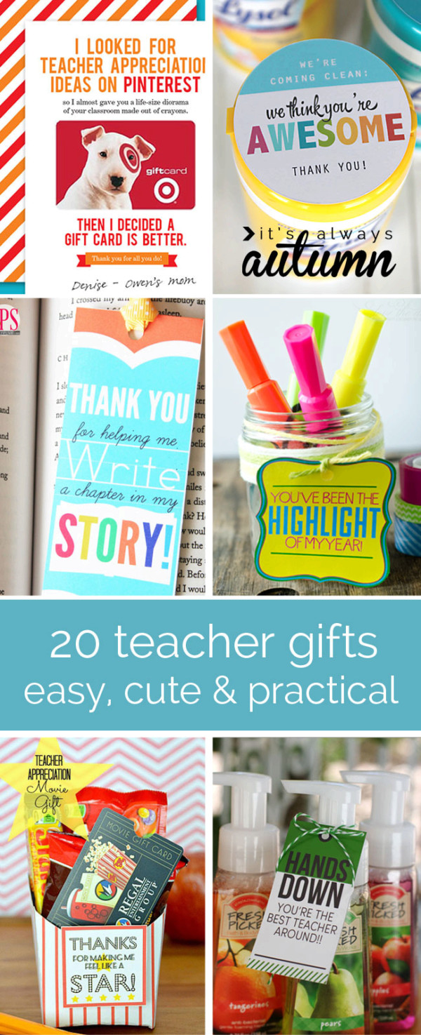 20 cheap, easy, cute & practical teacher appreciation gifts | Mathnasium